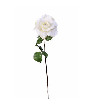 Bloom Room 22'' Single Rose Stem-White