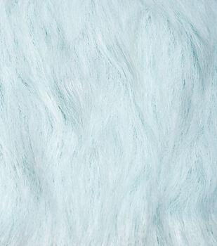 Fashion Faux Fur Fabric-Light Blue