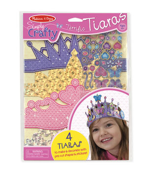 Melissa & Doug Simply Crafty Terrific Tiaras Kit-Makes 4
