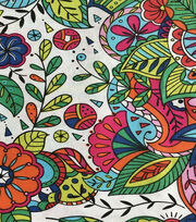 Keepsake Calico™ Cotton Fabric-Coloring Book Floral, , hi-res