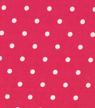 Quilter's Showcase Cotton Fabric-Dots Beetroot/White