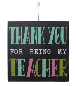 Escape To Paradise Wall Plaque-Thank You Teacher