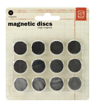 """Magnetic Discs .625"""" 12/Pkg"""