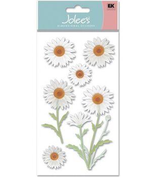 Vellum Dimensional Stickers-Daisies