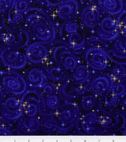 Premium Cotton Fabric-Stars Violet, , hi-res