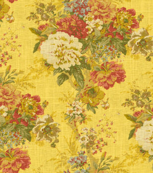 Home Decor 8''x 8'' Fabric Swatch-Waverly Ballad Bouquet/Gingersnap
