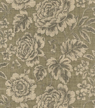 Waverly Floral Field Natural Burlap