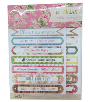 Webster's Pages Sentiments Sticker Pad 4x6