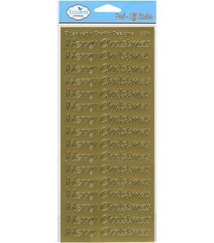 Elizabeth Craft Designs Merry Christmas Peel Off Sticker Large