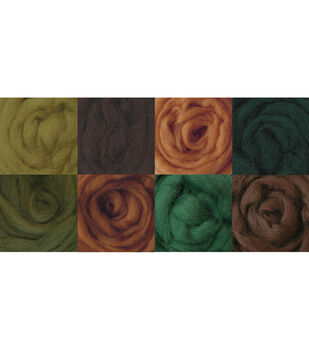 """Wool Roving 12"""" .25 Ounce 8/Pkg-Woodsy"""