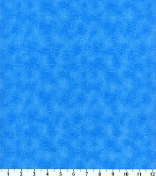 Keepsake Calico™ Cotton Fabric-Essentials Swirl Blue