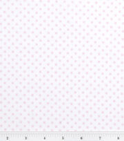 Nursery Baby Basic Fabric Dots Pink on White, , hi-res