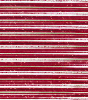 Christmas Cotton Fabric-Christmas Stripe