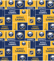 Buffalo Sabres NHL Block Fleece Fabric, , hi-res