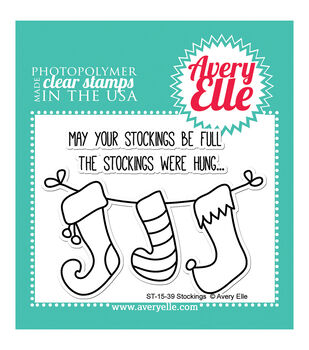 Avery Elle Clear Stamps-Stockings