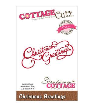 CottageCutz Elites Die-Christmas Greetings