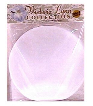 """100pk 10"""" Tulle Circles-White"""