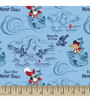 Jake and The Never Land Pirates Cotton Fabric-Sail The Seas