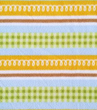 Micro Fleece Fabric Baby Stripes