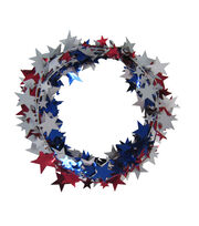 Sea To Shining Sea 25' Star Tinsel Garland-Multi, , hi-res