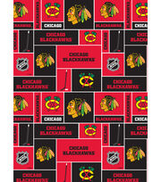 Chicago Blackhawks NHL Block Cotton Fabric, , hi-res