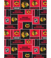 Chicago Blackhawks NHL Block Cotton Fabric, , hi-res