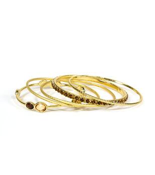 Blue Moon Jewelry Golden Bangle Bracelet Set