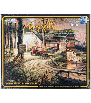 "Jigsaw Puzzle Terry Redlin 1000 Pieces 24""X30""-Hunter's Haven"