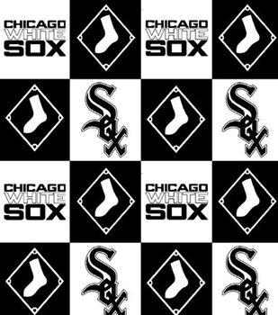 Chicago White Sox MLB Block Fleece Fabric