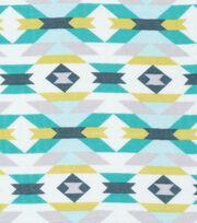 Cloud 9 Organic Cotton Double Gauze Fabric-Aztec Blue, , hi-res