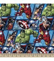 Marvel Avengers Assemble Grid Cotton Fabric, , hi-res