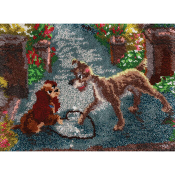 "Latch Hook Kit 27""X20""-Lady And The Tramp"