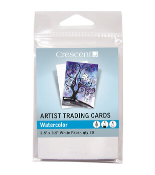 Crescent Artist Watercolor Trading Cards