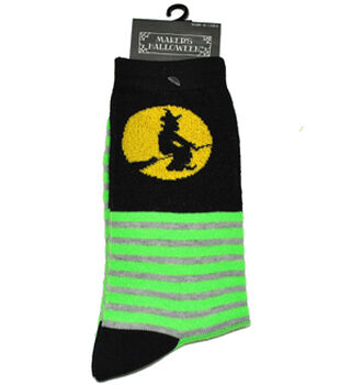 Maker's Halloween Socks-Witch Stripe Crew