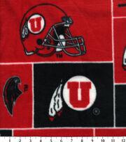 University of Utah NCAA  Fleece Fabric, , hi-res