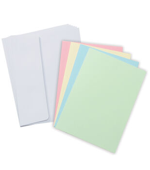 Core'dinations Card/Envelopes:  A2  Pastel Assortment; 50 pack