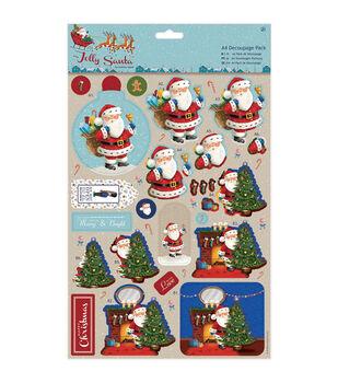 Papermania Jolly Santa A4 Decoupage Pack-Toys