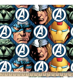Marvel Avengers Faces Micro Fleece