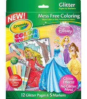 Crayola® Color Wonder Princess Glitter Coloring Pages&Markers, , hi-res