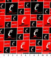 University of Cincinnati NCAA  Cotton Fabric, , hi-res