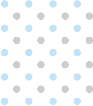 Nursery Fabric - Happy Dots Blue Flannel