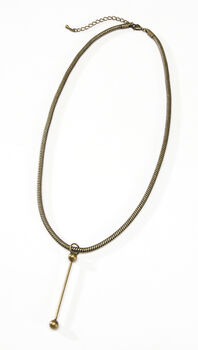Snake Chain Necklace Bronze