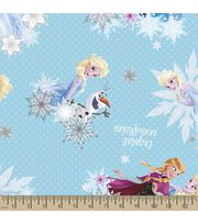 Disney® Frozen Print Fabric-Crystal Snowflakes, , hi-res