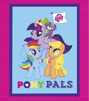 "My Little Pony Pals 48"" No Sew Fleece Throw, , hi-res"