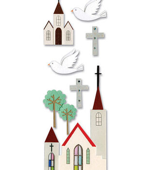 Touch Of Jolee's Dimensional Sticker-Church