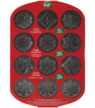 Wilton® Mini Cookie Pan-12 Cavity Snowflakes