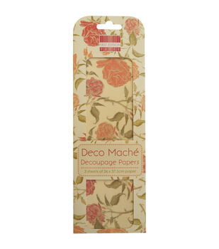 Trimcraft First Edition English Rose Deco Mache Paper