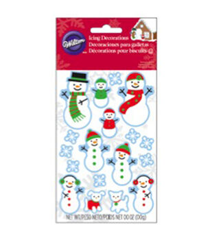 Wilton® Dot Matrix Icing Decorations 12/Pkg-Snowman Family