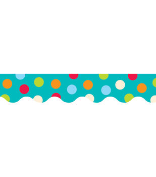 Dots-On-Turquoise Collection: Dots On Turquoise Border