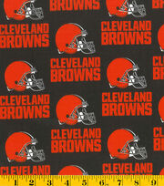 Cleveland Browns NFL Cotton Fabric by Fabric Traditions, , hi-res